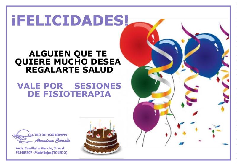 Promo de cumpleaños - Fisioterapia Almudena Carreño