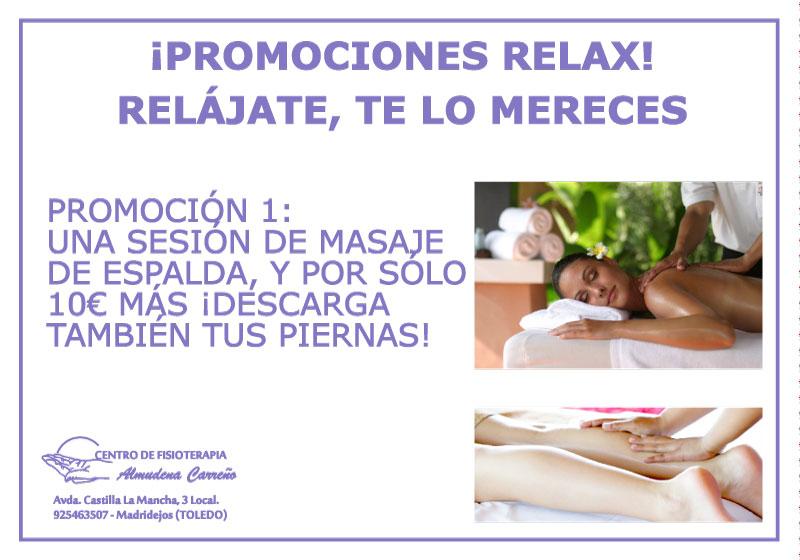 Promo Relax | Masaje de espalda y piernas